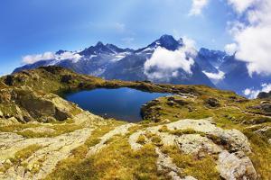 Mountain Landscape, Lacs Des Cheserys and Aiguilles Rouges, Haute Savoie, France, Europe by Frank Krahmer