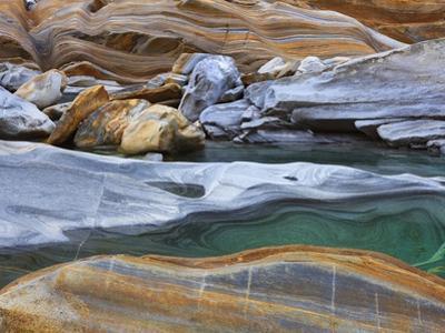 Rock along Verzasca River by Frank Krahmer