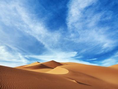 Sand dunes in Erg Admer in Algeria
