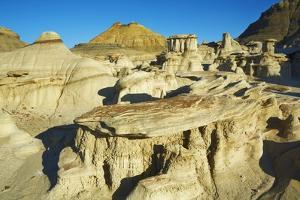 Sandstone Erosion Landscape in Bisti Badlands by Frank Krahmer