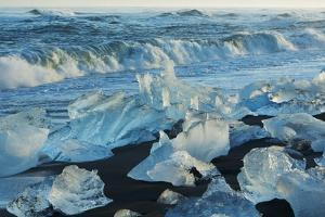 Sea Coast with Ice Blocks Washed Ashore by Frank Krahmer