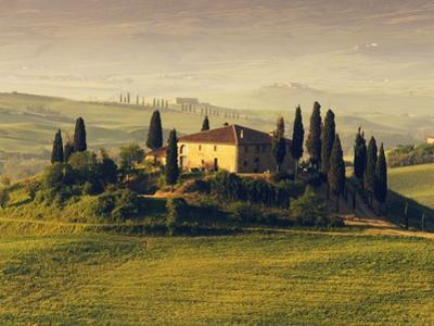 Tuscan Villa at Sunrise