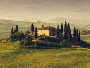 Tuscan Villa at Sunrise by Frank Krahmer