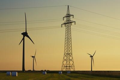 Wind Energy Plant and Power Pole by Frank Krahmer