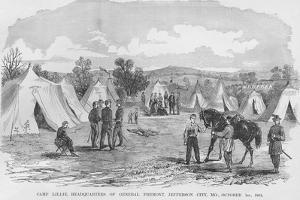 Fremont's Camp Lillie Headquarters by Frank Leslie