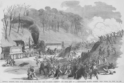 Ohio Regiment on Train Ambushed by Confederates in Vienna Virginal