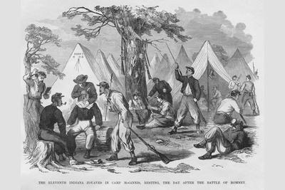 Zouaves Get a Shave in Camp Mcginnis after Battle of Bomney