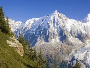 Aiguilles de Mont Blanc, Aguilles du Midi and Glacier des Bosson by Frank Lukasseck