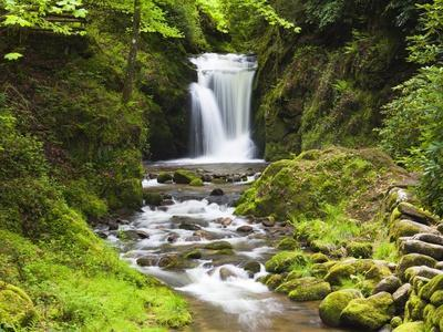 Geroldsauer Waterfall in Grobbach Valley in the Black Forest