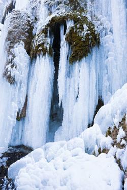 Iced Up Waterfall, SchleierfŠlle, Detail by Frank Lukasseck