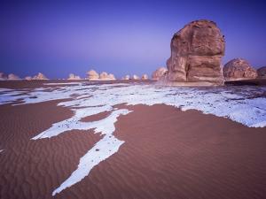 Limestone Formations in the Desert by Frank Lukasseck