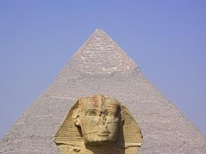 Sphinx and Great Pyramid by Frank Lukasseck