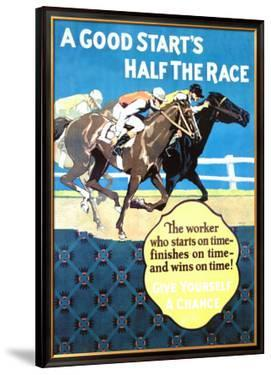 A Good Start Is Half the Race by Frank Mather Beatty