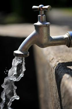 Water Running Out of a Water Tap by Frank May