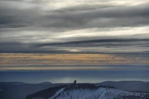 Winter on the Highest Harz Mountain, the Brocken by Frank May