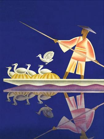 Birds and Boatman by Frank Mcintosh