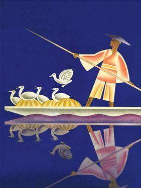 Birds and Boatman by Frank Mcintosh