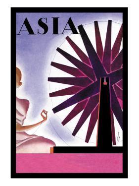 India's Symbolic Wheel by Frank Mcintosh