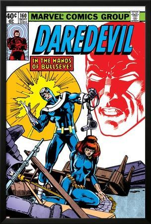 Daredevil No.160 Cover: Bullseye, Black Widow and Daredevil Charging