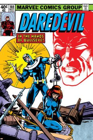 Daredevil No.160 Cover: Bullseye, Black Widow and Daredevil Charging by Frank Miller
