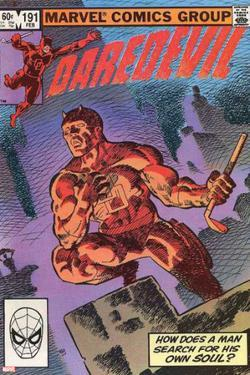 Daredevil No.500 Cover: Daredevil by Frank Miller