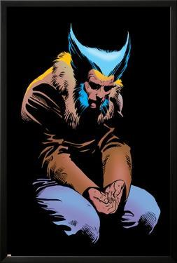 Wolverine No.3 Cover: Wolverine and Logan Flying by Frank Miller