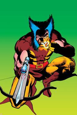 Wolverine No.4 Cover: Wolverine Crouching by Frank Miller