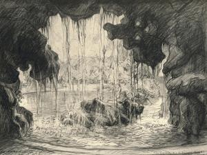 The Grand Cascade, Bois De Boulogne, 1915 by Frank Milton Armington