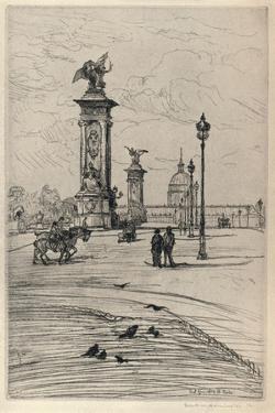 The Pont Alexandre Iii, 1915 by Frank Milton Armington