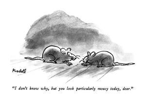 """""""I don't know why, but you look particularly mousy today, dear."""" - New Yorker Cartoon by Frank Modell"""