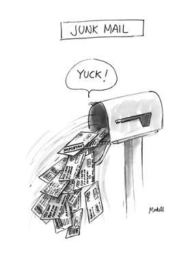 Junk Mail - New Yorker Cartoon by Frank Modell