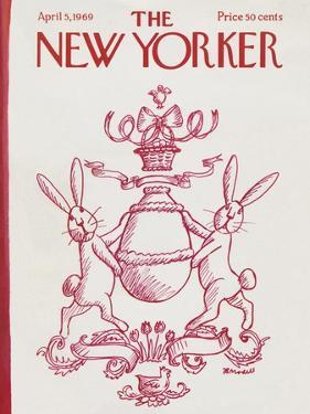 The New Yorker Cover - April 5, 1969 by Frank Modell