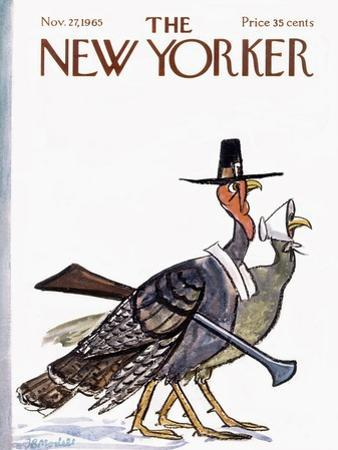 The New Yorker Cover - November 27, 1965 by Frank Modell