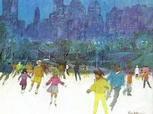 """""""Ice Skating in Central Park,"""" January 5, 1963 by Frank Mullins"""