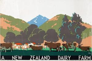A New Zealand Dairy Farm, from the Series 'Buy New Zealand Produce' by Frank Newbould