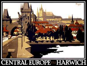 Central Europe via Harwich by Frank Newbould