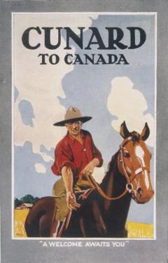 Cunard to Canada, a Welcome Awaits You by Frank Newbould