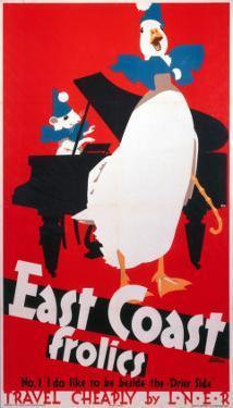 East Coast Frolics, LNER, c.1933 by Frank Newbould