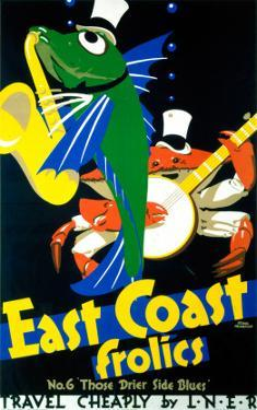 East Coast Frolics, No 6, LNER, c.1933 by Frank Newbould