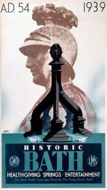 Historic Bath, GWR/LMS, c.1939 by Frank Newbould