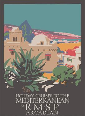 Holiday Cruises to the Mediterranean - RMSP Arcadian by Frank Newbould