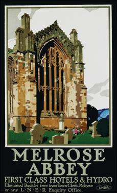 Melrose Abbey Poster by Frank Newbould