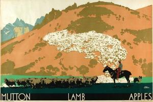 Mutton - Lamb - Apples, from the Series 'Buy New Zealand Produce' by Frank Newbould