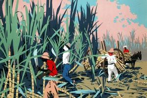 Reaping Sugar Canes in the West Indies by Frank Newbould