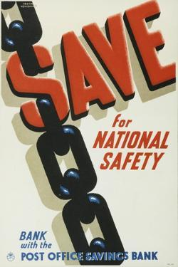 Save for National Safety, Bank with the Post Office Savings Bank by Frank Newbould