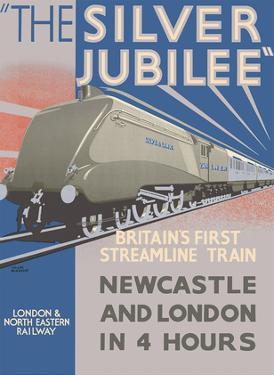 Silver Jubilee - Britain's 1st Streamline Train - London & North Eastern Railway by Frank Newbould