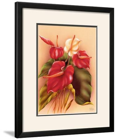 Red and White Anthuriums
