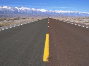 Highway 136 Heading Toward Lone Pine, CA by Frank Pedrick
