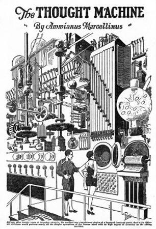 Computer as Envisaged in 1927, Illustration to the Thought Machine by Ammianus Marcellinus by Frank R. Paul