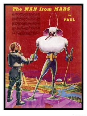 Mars Martians Enjoy Less Gravity But Must Withstand a Thinner Atmosphere with Extreme Temperatures by Frank R. Paul